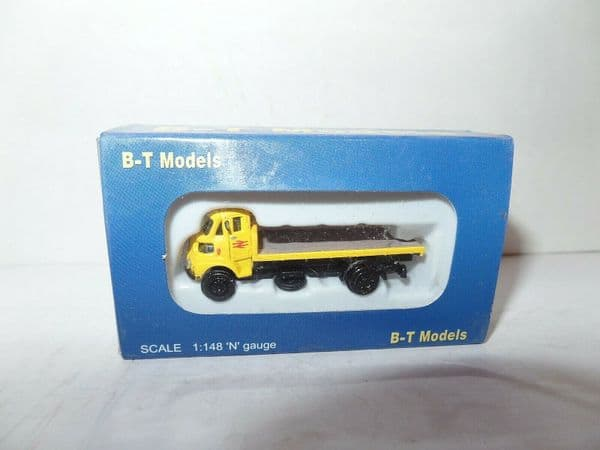 B T Models N012 1/148 N Gauge Leyland FG Flatbed British Rail Yellow 1974-1984