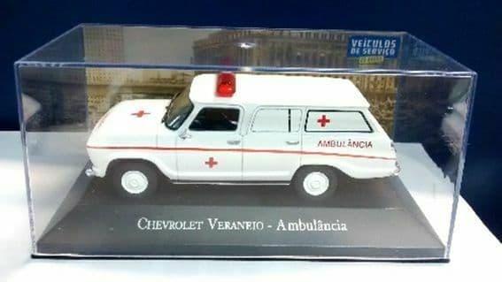 Brazilian Brazil KM02 1/43 SCALE Chevrolet Veraneio  Ambulancia Ambulance Bar