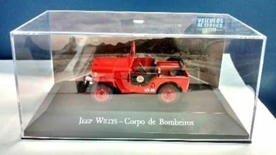 Brazilian Brazil KM04 1/43 SCALE Jeep Willys Bombeiros Fire Brigade Engine