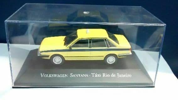 Brazilian Brazil KM05 1/43 SCALE Volkswagen VW Santana - Taxi Yellow