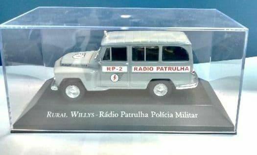 Brazilian Brazil KM06 1/43 SCALE Willys Jeep  Radio Patrulha Military Police
