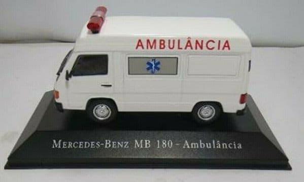 Brazilian Brazil KM16 1/43 SCALE Mercedes MB180  Ambulancia Ambulance