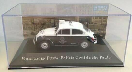 Brazilian Brazil KM19 1/43 SCALE Volkswagen VW Fusca Beetle Policia Civil Police