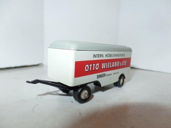 Brekina HO 1:87  Mercedes L 6600 Trailer Ackermann Case Heating Otto Wieland