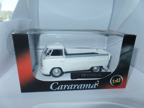Cararama 1/43 O Scale 251PND7W  Volkswagen VW Transporter T1 Pick Up Open White Grey