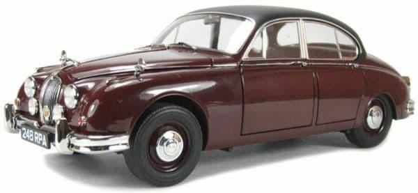 Cararama  1/43 O Scale 4-16741 Jaguar MKII 2 Burgundy Black Roof Inspector Morse