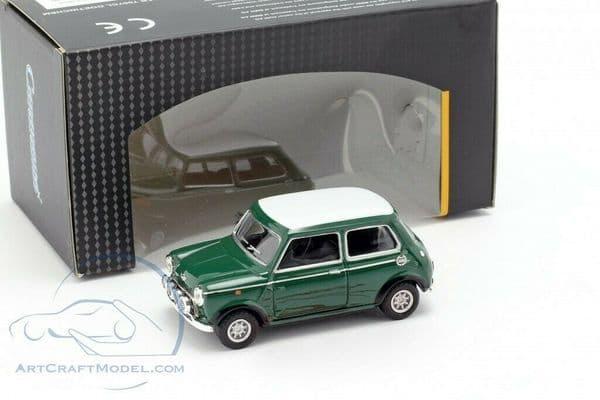Cararama 1/43 O Scale 4-41300  Mini Cooper Green White Roof Racing Spots