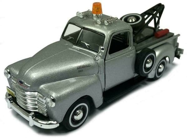 Cararama 1/43 O Scale Chevrolet C3100 Breakdown Recovery tow truck Silver