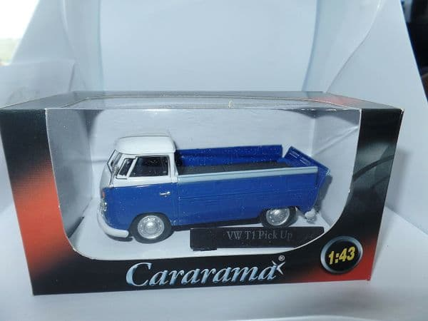 Cararama 1/43 O Scale Volkswagen VW Transporter T1 Pick Up Open Blue Grey