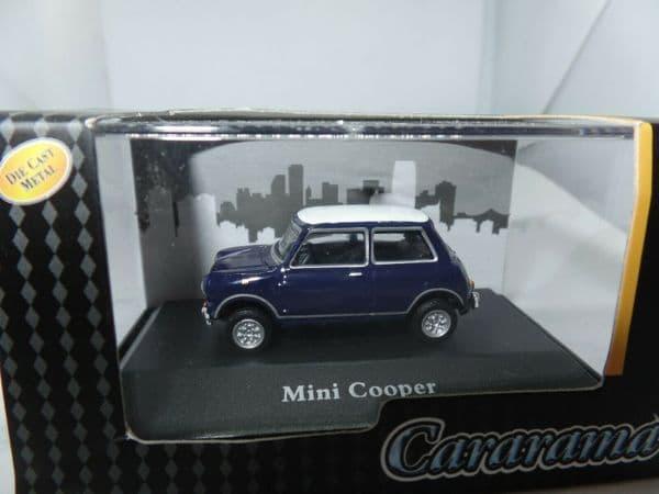 Cararama 1/72 Scale 7-41150  Leyland Mini Cooper Dark Blue White Roof