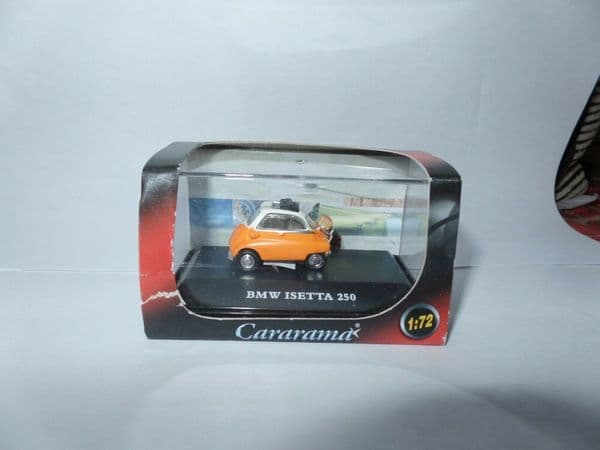 Cararama 1/72 Scale  BMW Isetta Bubble Car c/w Suitcase.