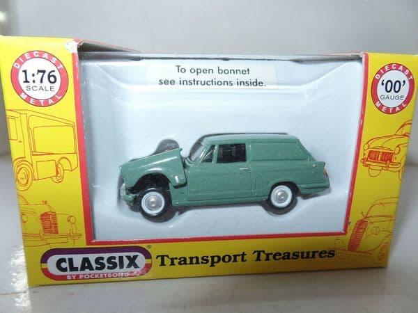 Classix EM76683 1/76 OO Scale Triumph Herald Courier Van Mid Green