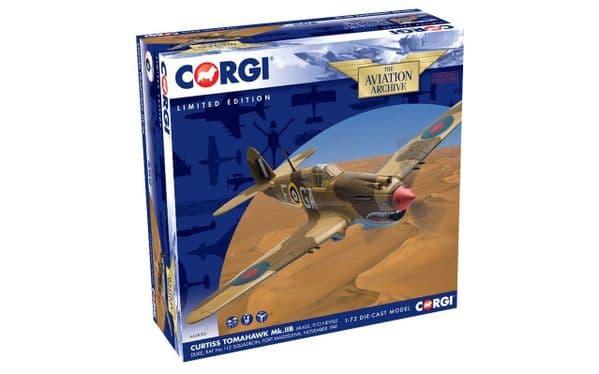 CORGI  AA28103  1/72 Curtiss Tomahawk IIB AK402 P/O Neville Duke  RAF Royal Air Force 112 Squadron