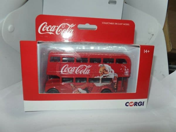 CORGI GS82331 1/64 Scale LONDON ROUTEMASTER BUS Coca Cola Christmas MIMB