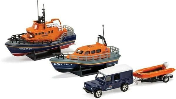 Corgi RNLI0001 RNLI Gift Set Shannon Lifeboat Severn and Flood Rescue Team
