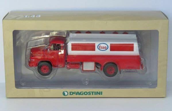 DeAgostini BL72 1/43 Scale Man 626H MAN Diesel Esso Tanker Red White Kurzhauber