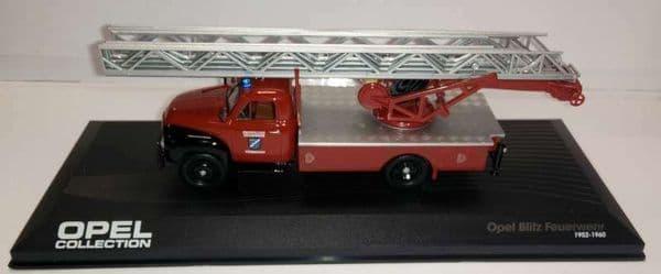 DeAgostini CL97 1/43 Scale Opel Blitz Turntable Ladder Fire Truck Feuerwenr