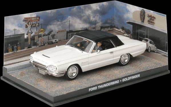 DY042 JAMES BOND CARS COLLECTION 1/43 Ford Thunderbird - Goldfinger