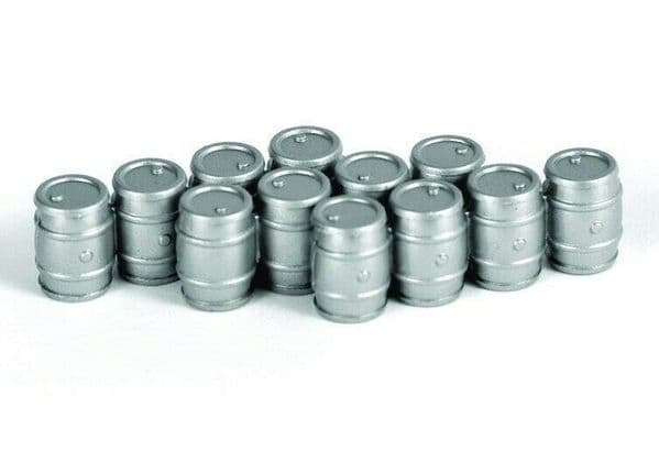 EFE 99607 Gilbow True Scale 1/76 OO Scale Aluminium Beer Kegs Barrel 3 sets of 4