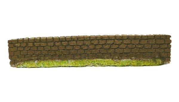 EFE Base BT Jarvis PW03DB True 1/76 OO Scale  Dark Brown Garden Wall