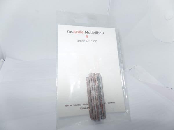 EFE Base BT Red Scale 2150 True 1/148  Scale N Gauge 14 x  Slim Square Steel Cast Rods Silver