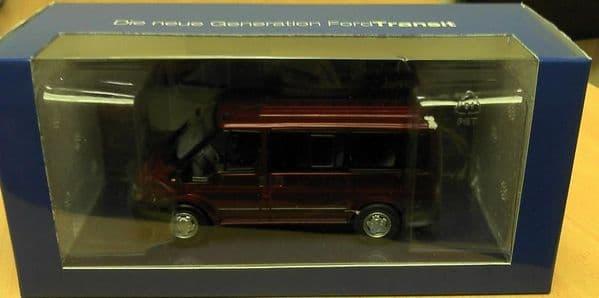 Ford Dealer 1/43 O Scale Ford Transit Mk6 Torneo Kombi 2000 Red