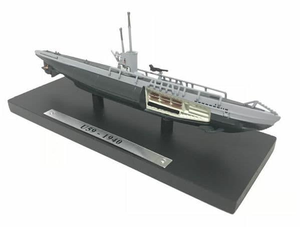 HX11 Atlas DeAgostini 1/350 Scale Submarine German Germany U Boat U59 1940 WWII