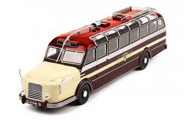 IXO BUS010 1/43 SCALE Krupp titanium 080 Coach Bus Dark Red / Beige 1951