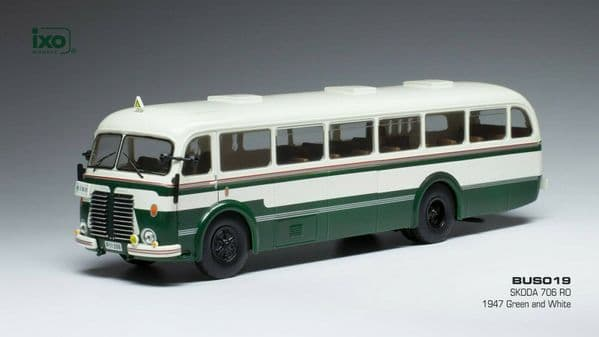 IXO BUS019 1/43 O Scale Bus Skoda 706 RO Green White 1947
