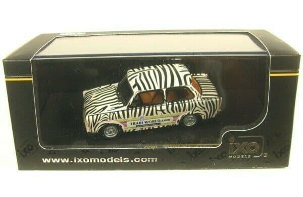 IXO CLC271 1/43 Scale Trabant 601 Trabiworld Safari 1970 White Black Zebra
