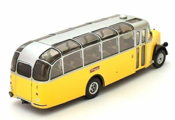 IXO Hachette HC05 1/43 Scale Bus P.T.T. Switzerland Yellow Post Bus Coach Saurer L4C