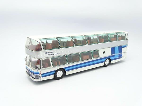 IXO Hachette HC27 1/43 Scale Bus Coach Neoplan NH22 Skyliner Blue Germany 1983