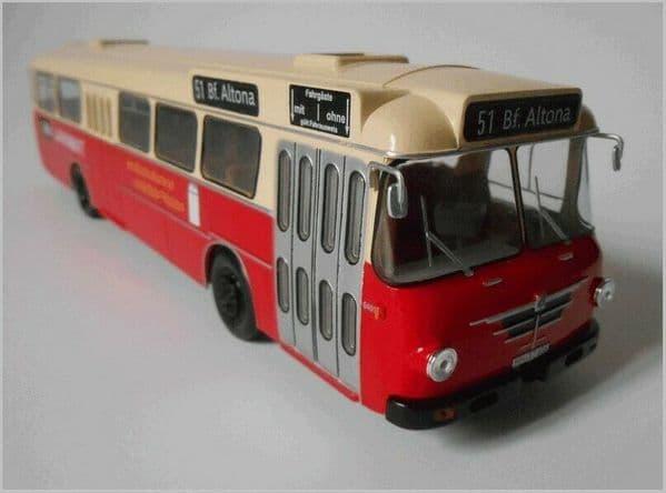 IXO Hachette HC57 1/43 Scale Büssing Senator Bus Coach Hamburg Germany 1964 Lavamat AEG