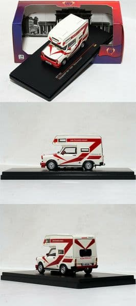 IXO IST189r 1/43 Scale TRABANT 601 WOHNMOBIL WHITE 1980 Mobile Camper Home