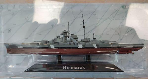 KZ01 Atlas DeAgostini 1/1250 Scale Bismarck German  Battleship 1941