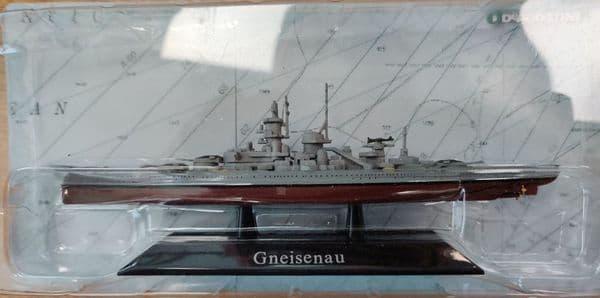 KZ05 Atlas DeAgostini 1/1250 Scale Gneisenau German  Battleship 1930