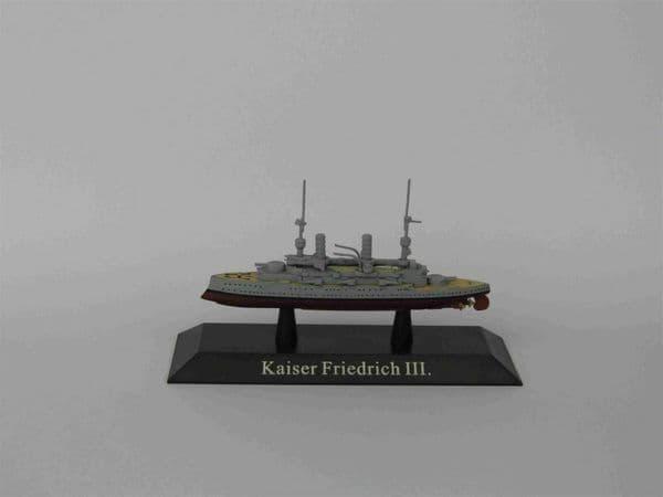 KZ41 Atlas DeAgostini 1/1250 Scale German KAISER class Battleship 1912