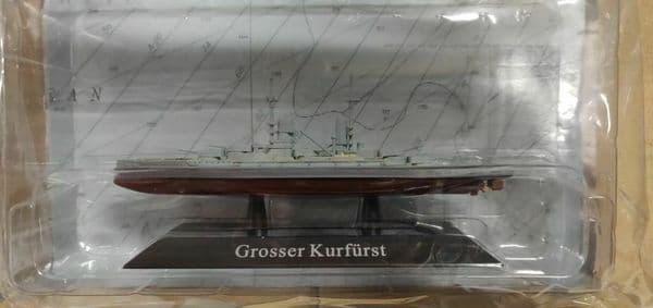 KZ49 Atlas DeAgostini 1/1250 Scale German GROSSER KURFURST Battleship 1913