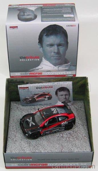 Lledo Corgi Vanguards VA12800 1/43 Scale 2006 Colin McRae Tribute DJM R4, 2500cc Black / Red