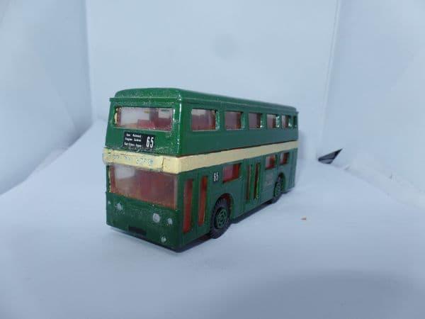Matchbox SuperKings K15 Copy Daimler Fleetline Code 3 Bus London Transport Green 65 Piccadilly UB