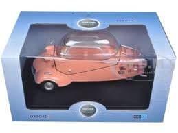 Oxford 18MBC003 MBC003 1/18 Scale Messerschmitt KR200 Bubble Car Rose Pink Closed Top Worn Box