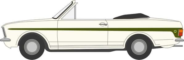 Oxford 43CCC002 CCC002 1/43 Ford Cortina MkII Crayford Convertible Ermine White Green