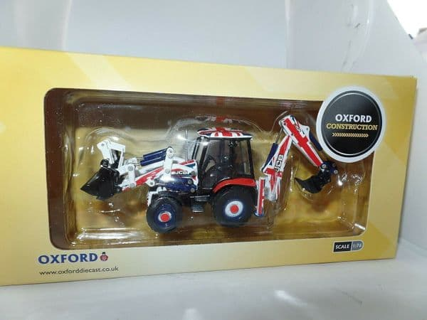 Oxford 763CX002 3CX002 1/76 OO Scale JCB 3CX ECO Backhoe Loader Union Jack Flag