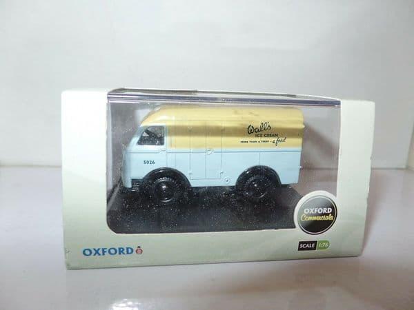 Oxford 76AK003 AK003 1/76 OO Scale Austin K8 3 Way Van Walls Ice Cream
