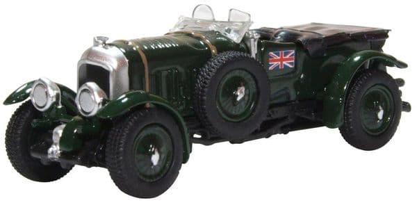 Oxford 76BB003 BB003 1/76 OO  Bentley Blower 1927 British Racing Green Union Jack