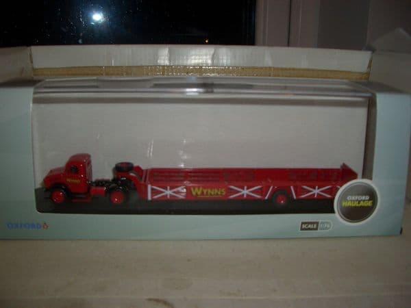Oxford 76BD012 BD012 1/76 OO Scale Bedford OX Queen Mary Trailer Wynns Haulage