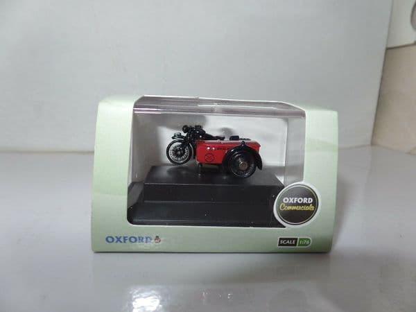 Oxford 76BSA003 BSA003 1/76 OO BSA Motorcycle Motorbike Sidecar Royal Mail Red