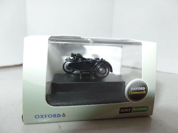 Oxford 76BSA006 BSA006 1/76 OO Scale BSA Motorcycle Sidecar Police Black