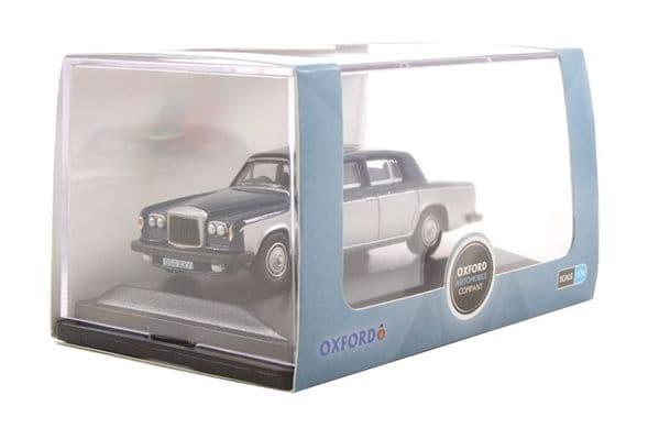 Oxford 76BT2004 BT2004 1/76 OO Scale Bentley T2 Saloon Seychelles Blue Shell Grey