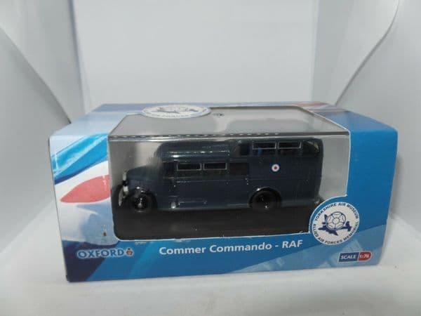 Oxford 76COM001 COM001 1/76 OO Commer Commando Coach Bus RAF Royal Air Force